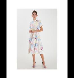ICHI Waist Tie Full Button Dress