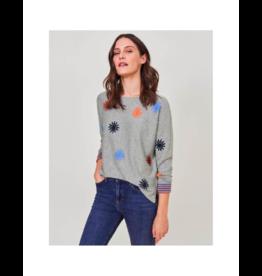 White Stuff Cotton Daisy Sweater