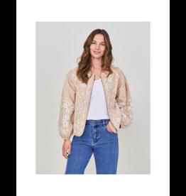 White Stuff Crop Sleeve Embroidered Jacket