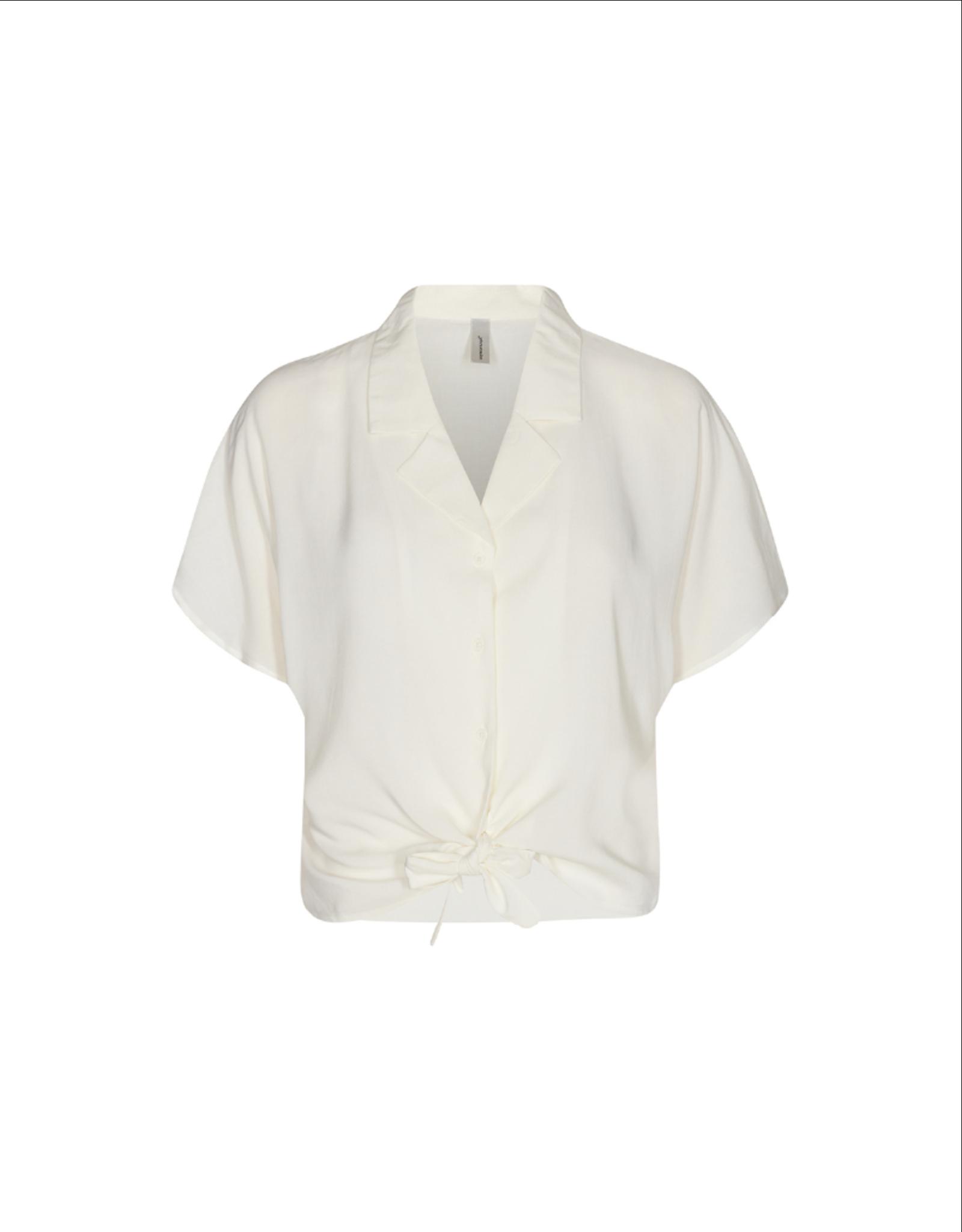 Soya Concept Crop Tie Front Blouse