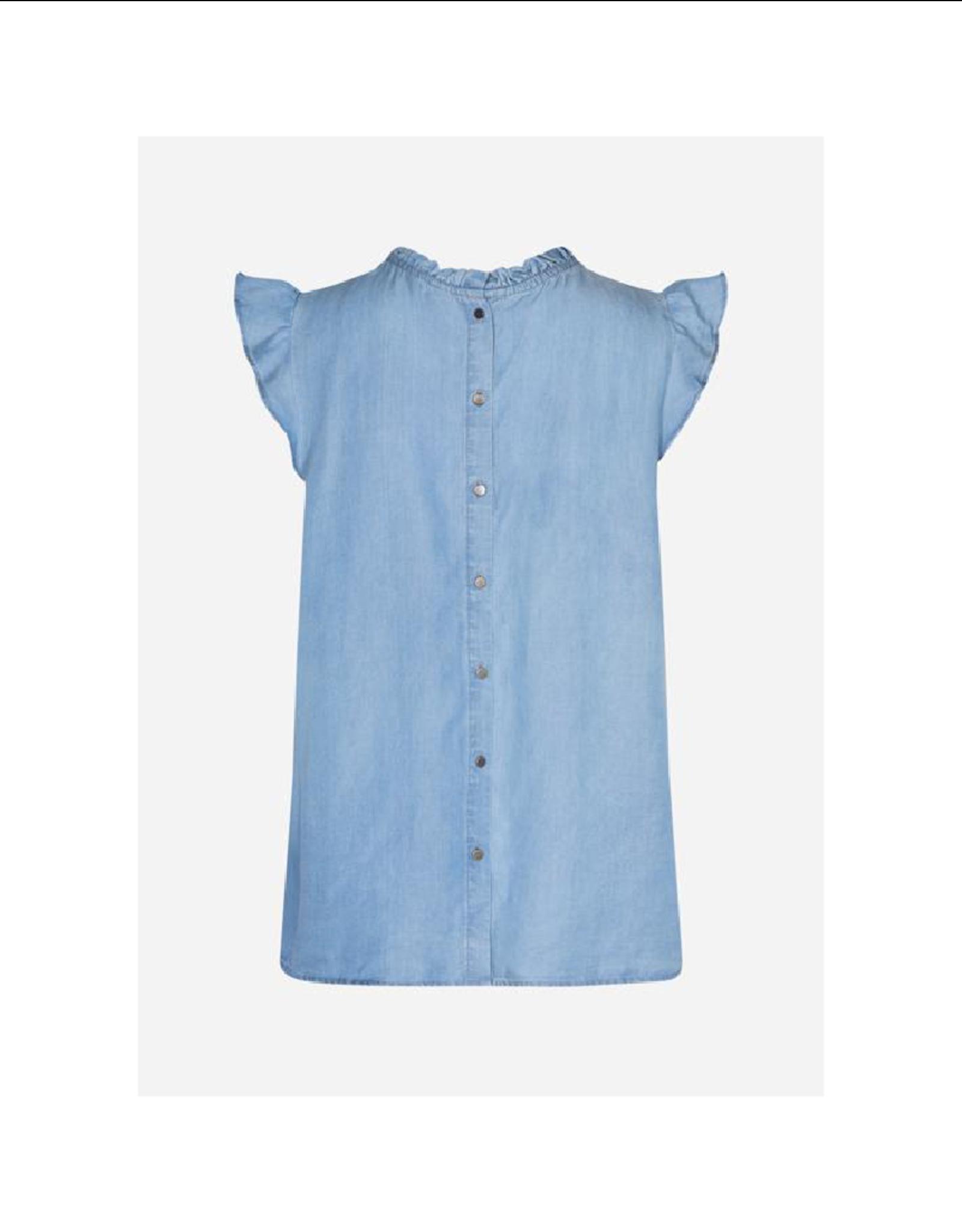 Soya Concept Cap Sleeve High Neck Blouse