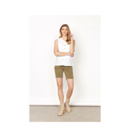 Soya Concept Sleeveless Wood Button Blouse