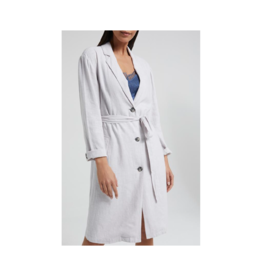 YaYa Long Button Up Linen Jacket