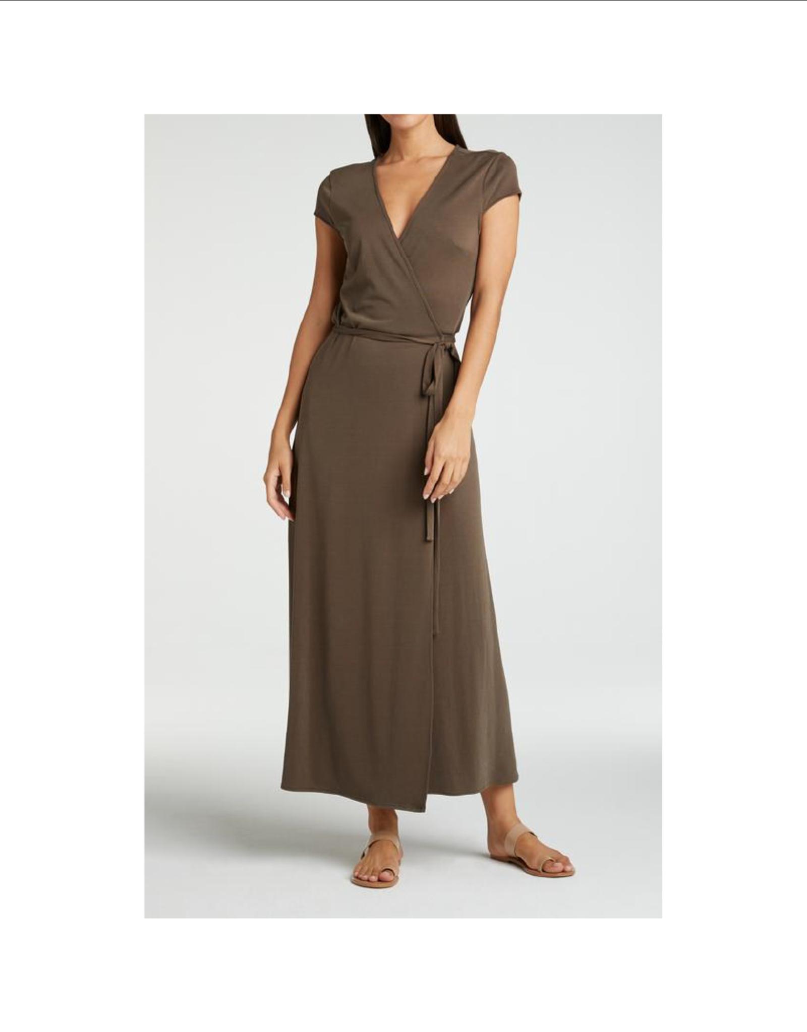 YaYa Modal Jersey Wrap Dress