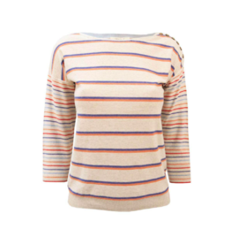 White Stuff Multi Yarn Stripe Sweater