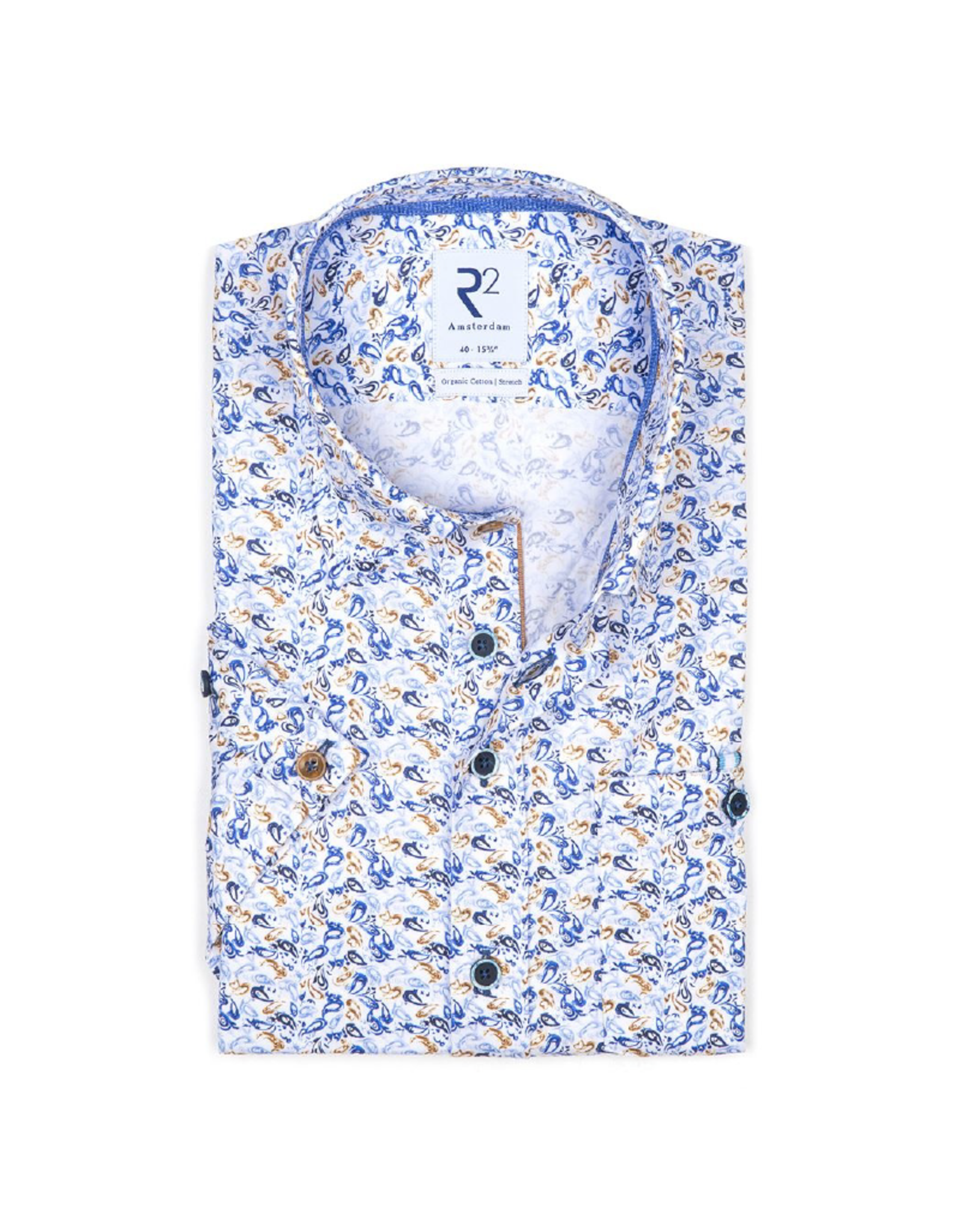 R2 Paisley Short-Sleeve Button Up