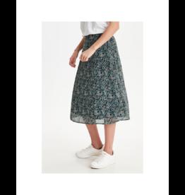ICHI Mini Floral Midi Skirt