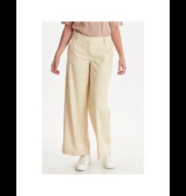 ICHI Wide-Leg Gingham Pant