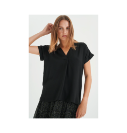 Inwear Pleated V-Neck S/S Blouse (3 Colours Available)