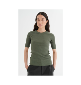 Inwear Thick Rib Crewneck 3/4 Sleeve Top (4 Colours Available)