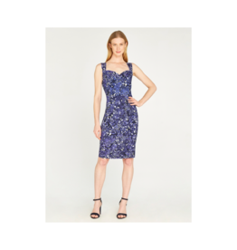 Apricot Abstract Leaf Bodycon Dress