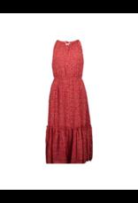 Apricot Micro Ditsy Ruffle Midi Dress