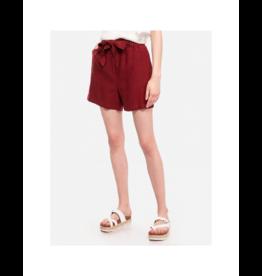Soya Concept Linen Viscose Front Tie Short