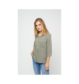 Soya Concept Roll Up Sleeve Viscose Blouse