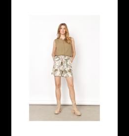 Soya Concept Printed Elastic Waist Shorts