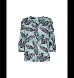 Soya Concept Cap Sleeve Tropical Blouse