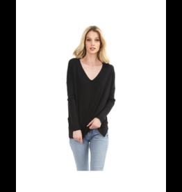 Bobi Thin V-Neck Oversize Sweater (Multiple Colours Available)