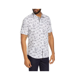 Bugatchi Uomo Floral S/S Button-Up Shirt