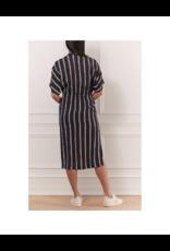 Iris Striped Wrap Dress