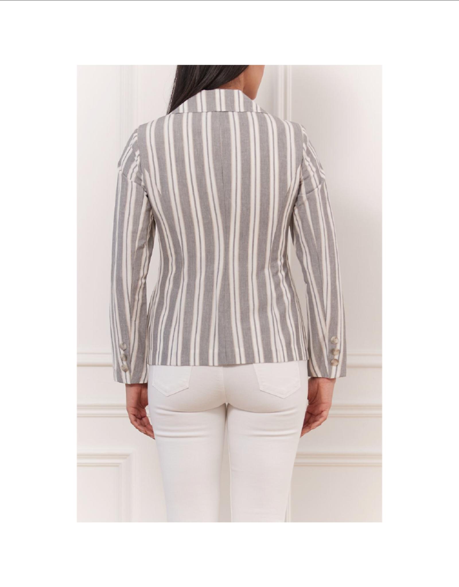 Iris Linen Stripe Jacket