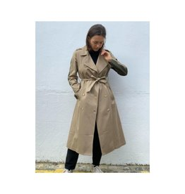 Good Match Two-Tone Trench Coat