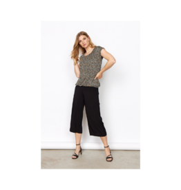 Soya Concept Banded Bottom Printed S/S Top