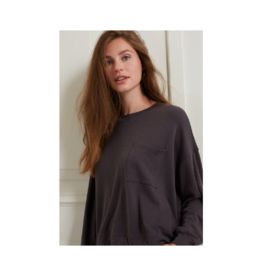 YaYa Drawstring & Pocket Modal Blend Sweater