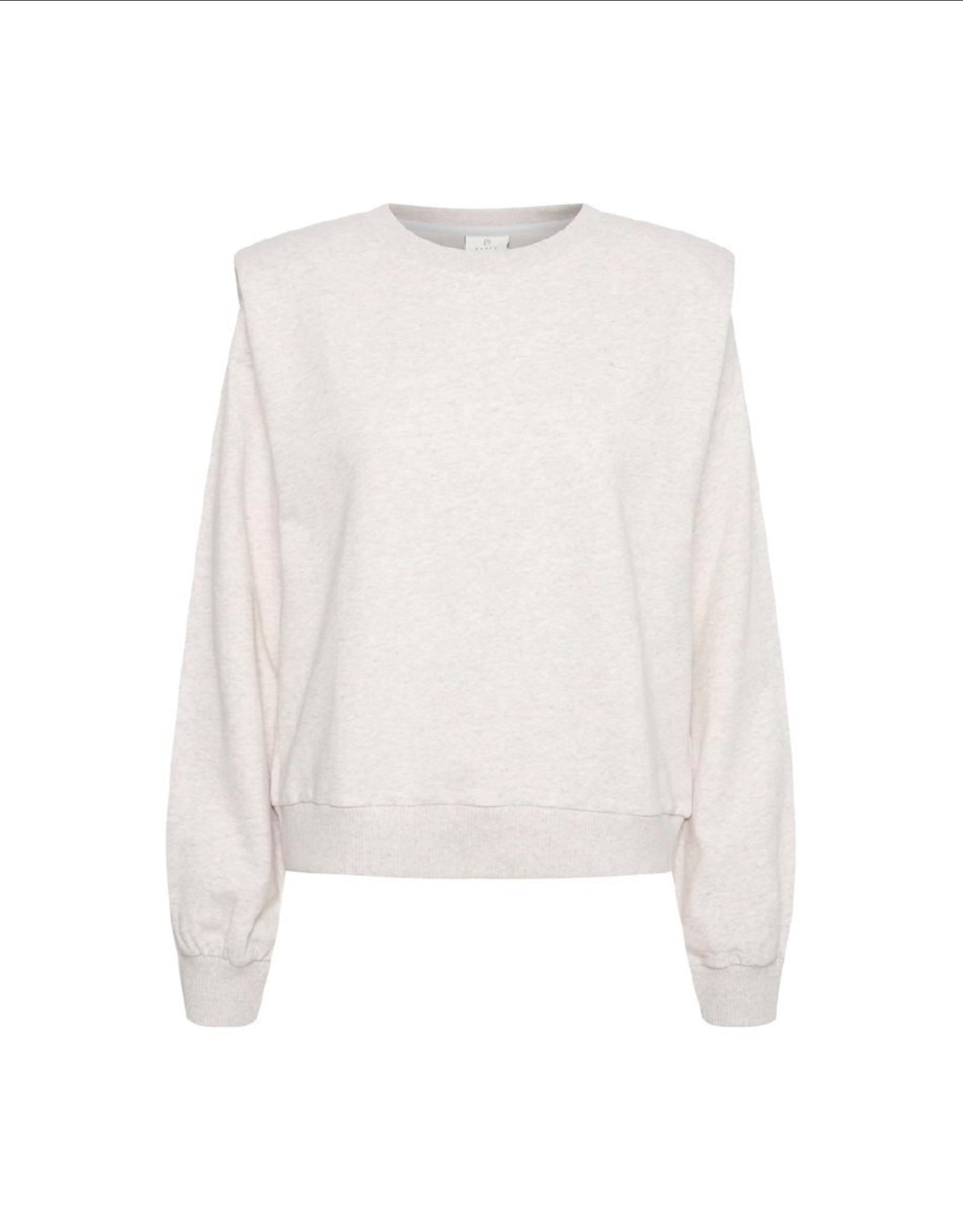Kaffe Shoulder Pad Crewneck Sweatshirt