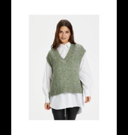 Kaffe Square Crop Sweater Vest