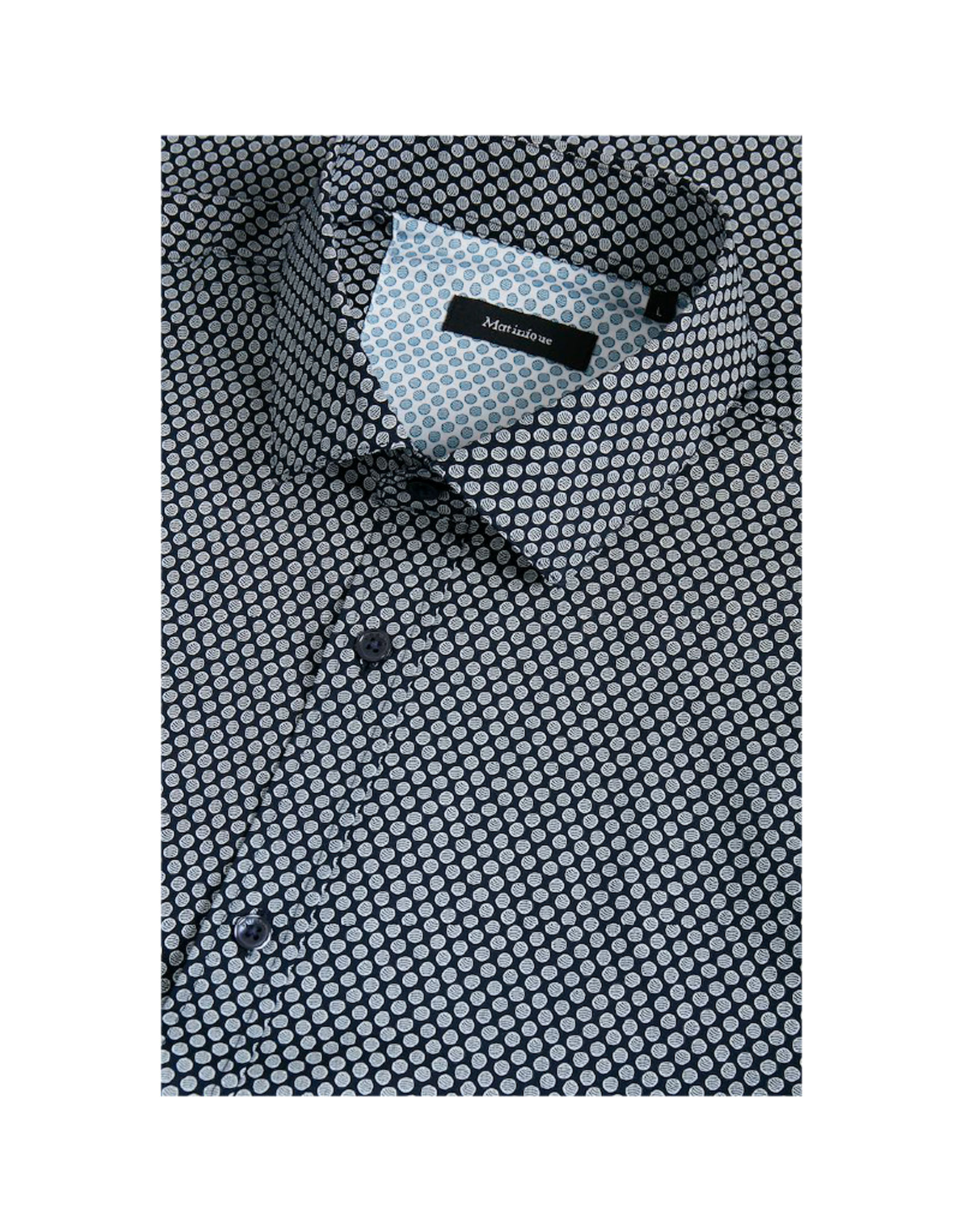 Matinique Trostol Circles Long-Sleeve Button-Up