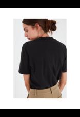ICHI Cotton Mock Neck Short-Sleeve Top