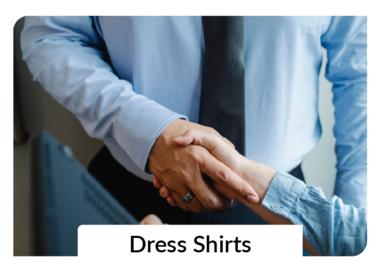 Dress Shirts + Button-Ups