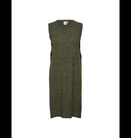 ICHI Side Slit Long Knit Vest (2 Colours Available)