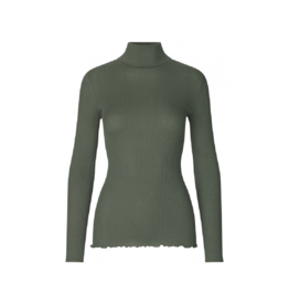 Rosemunde Silk Cotton Ribbed Turtleneck (10 Colours Available)