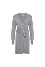 B. Young Long Wrap Cardigan with Pockets