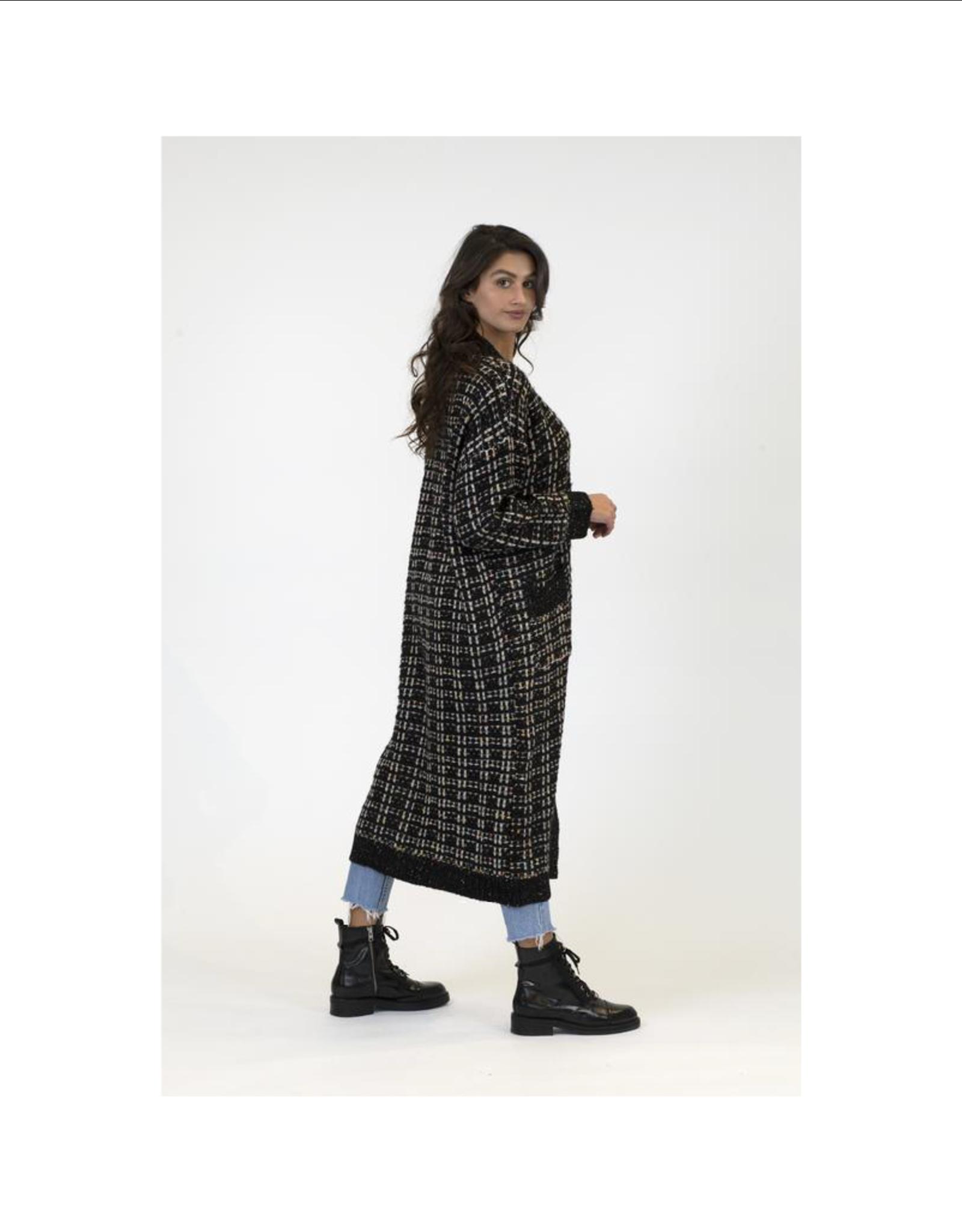 Dublin Long Tweed Cardi with Pockets