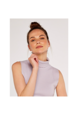 Apricot Sleeveless Roll Neck Top
