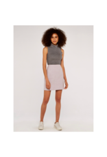 Apricot Grey Sleeveless Roll Neck Top