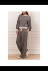 Iris Ribbed Horizontal Pin Stripe Sweater