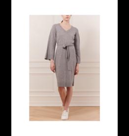 Iris Wide Sleeve Waist Tie Knit Dress