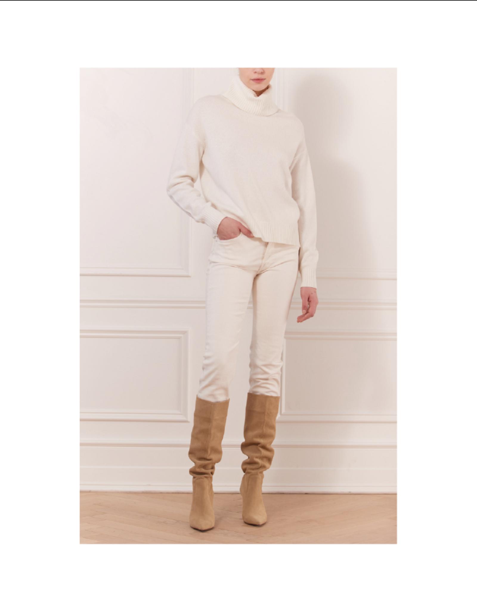 Iris Turtleneck Drop Shoulder Sweater