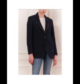 Iris Faux Leather Tweed BF Blazer