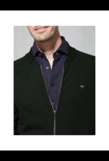 Fynch Hatton Zip Up Cotton College Cardigan