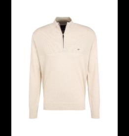 Fynch Hatton Cotton 1/4 Zip Sweater