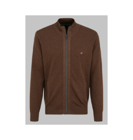 Fynch Hatton Waffle Zip Up Cardigan (2 Colours Available)