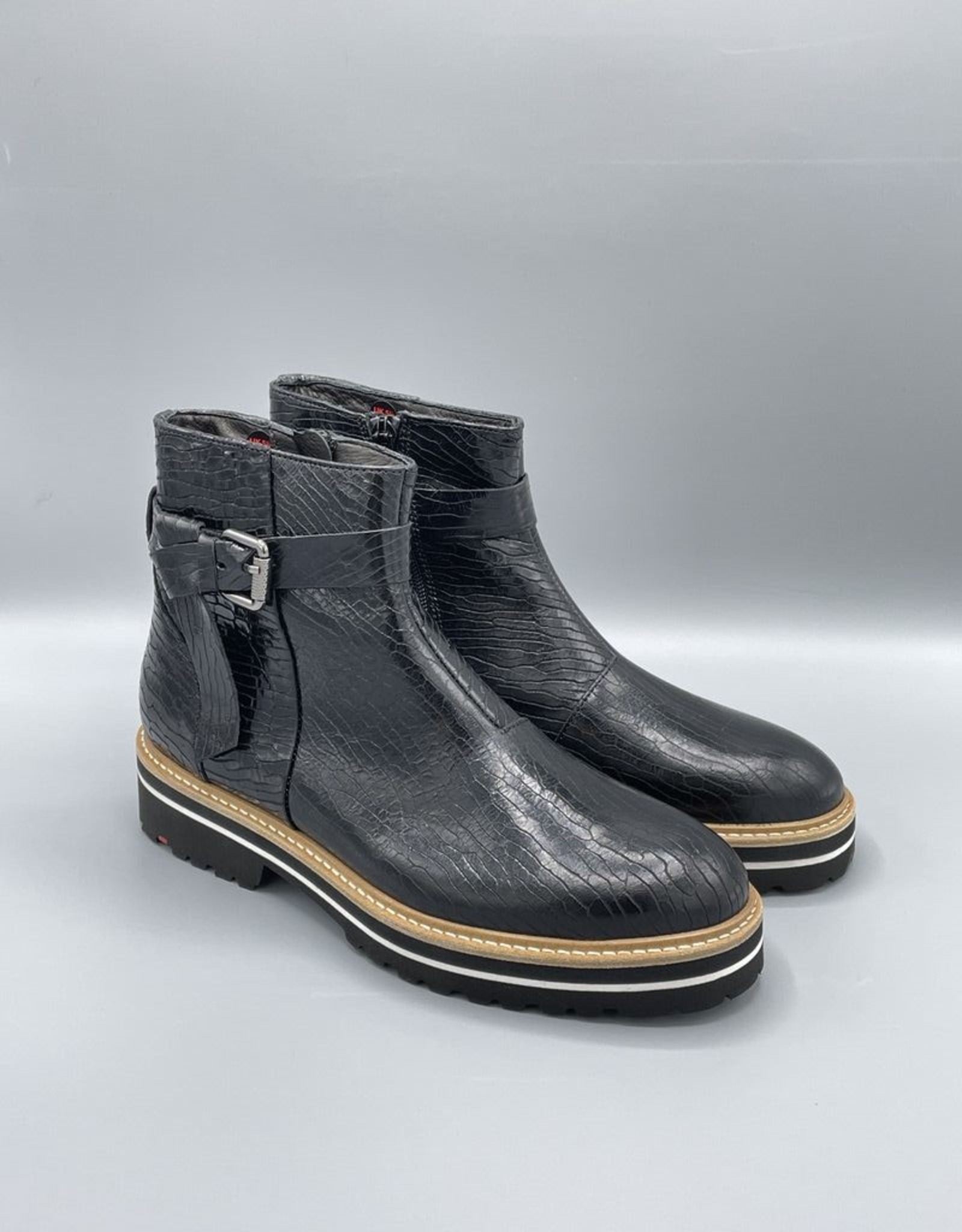 Lloyd Side Zip Strapped Chunky Boot