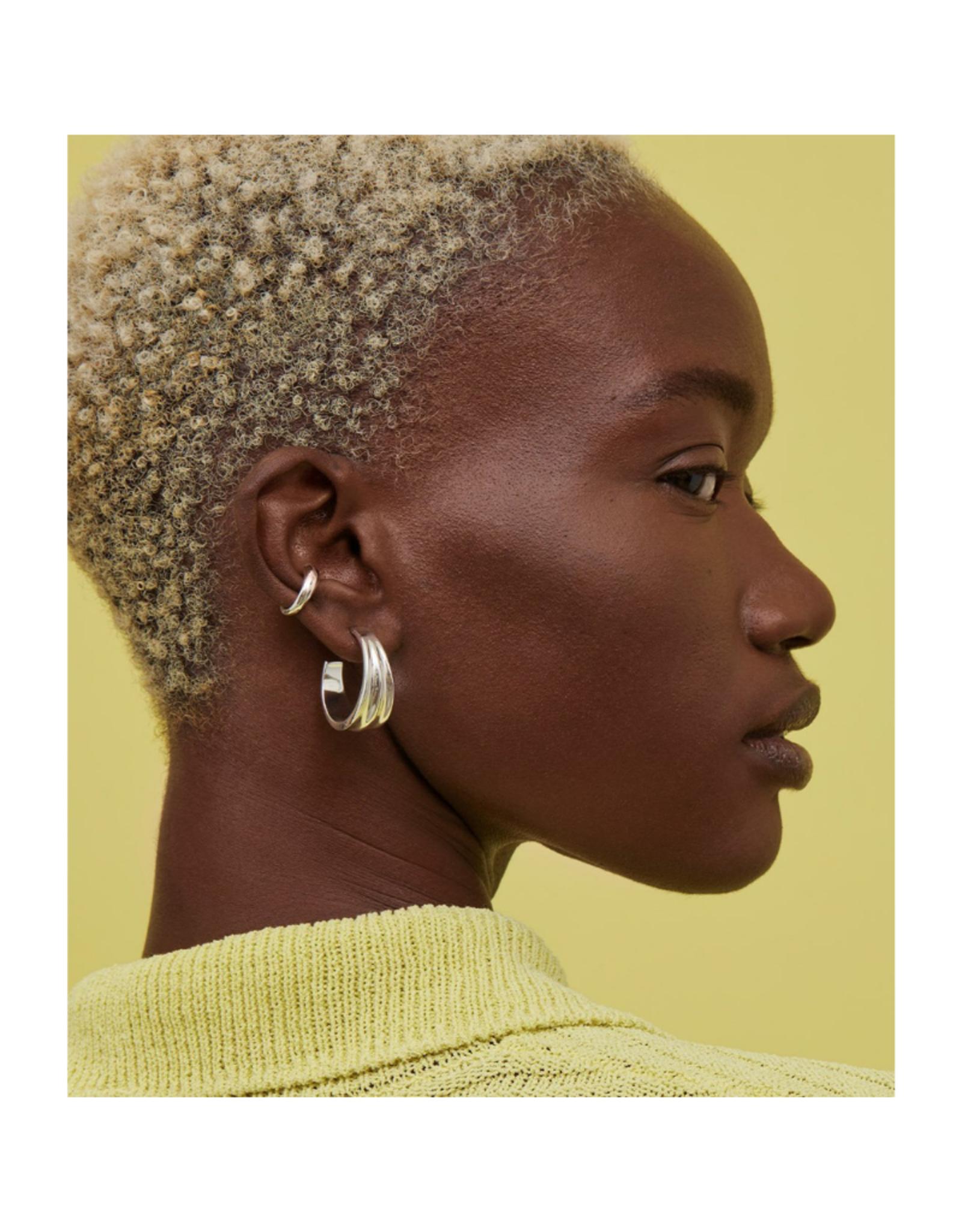 Jenny Bird Pleated Hoop Earrings