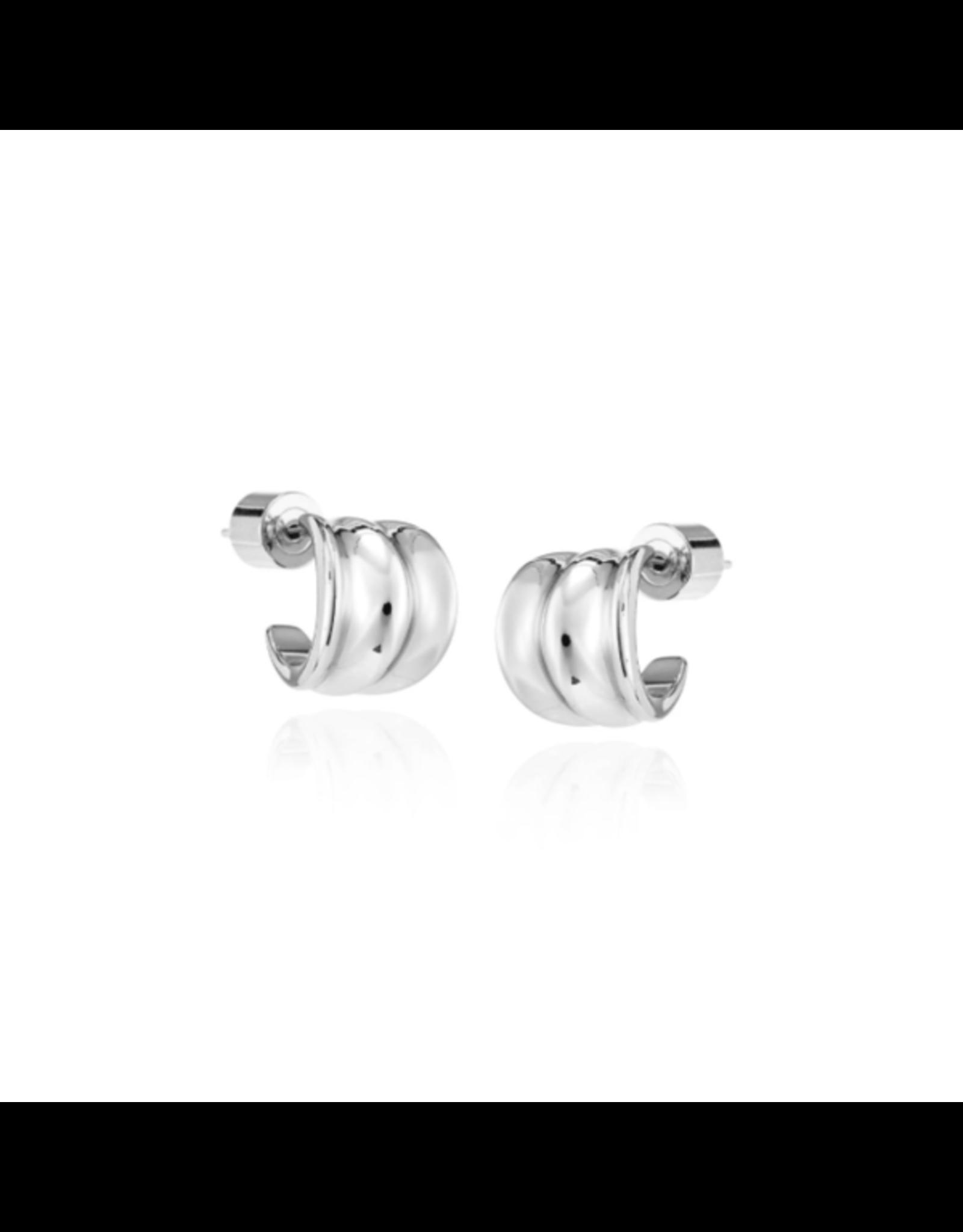 Jenny Bird Pleated Huggies Earrings