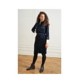 La Petite Francaise Relatine Self Belt Cord Dress