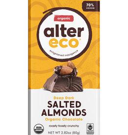 Alter Eco Alter Eco - Chocolate Bar, Dark Salted Almonds 70%